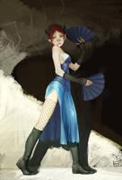 -Warrior in a blue dress- by MarcBrunet