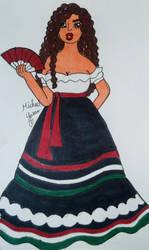 Hispanic Girl by KittenSinger