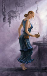 The Blue Lady - The scholars (healer) by Agalanthe