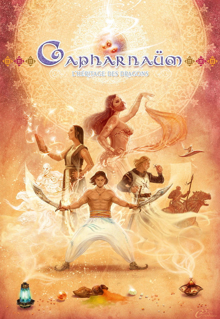 CAPHARNAUM, The Tales of the Dragon-Marked (logo) by Agalanthe