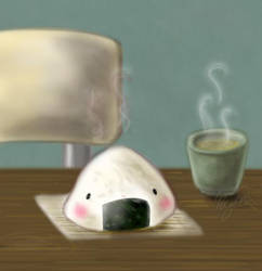 Onigiri Doodle by busybea