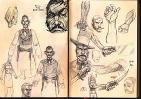 bill the butcher sketch pages by ZachSatherArt