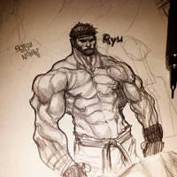 Street fighter 5 Ryu by ZachSatherArt