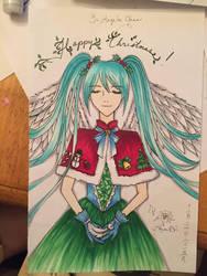 Christmas Card - Miku by AkabaraYashiki