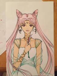 Sailor Moon - Princess Small Lady Christmas Lily by AkabaraYashiki