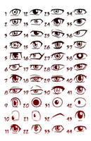 Manga Eyes Shonen by Godsartist
