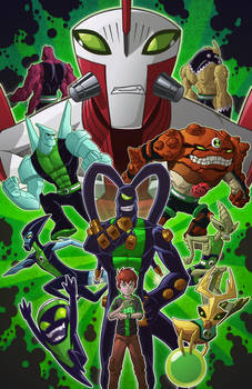 Ben 10 and His Posse by Godsartist