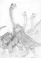 Clash of the Giants by ebelesaurus