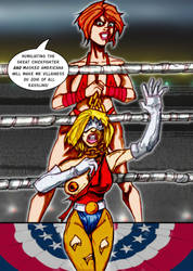 Monet Humiliates Masked Americana by Chickfighter