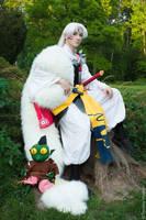 Lord Sesshomaru and Jaken by Lunomar