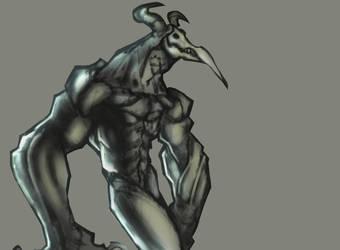 Demon Sketch by billthebluebot