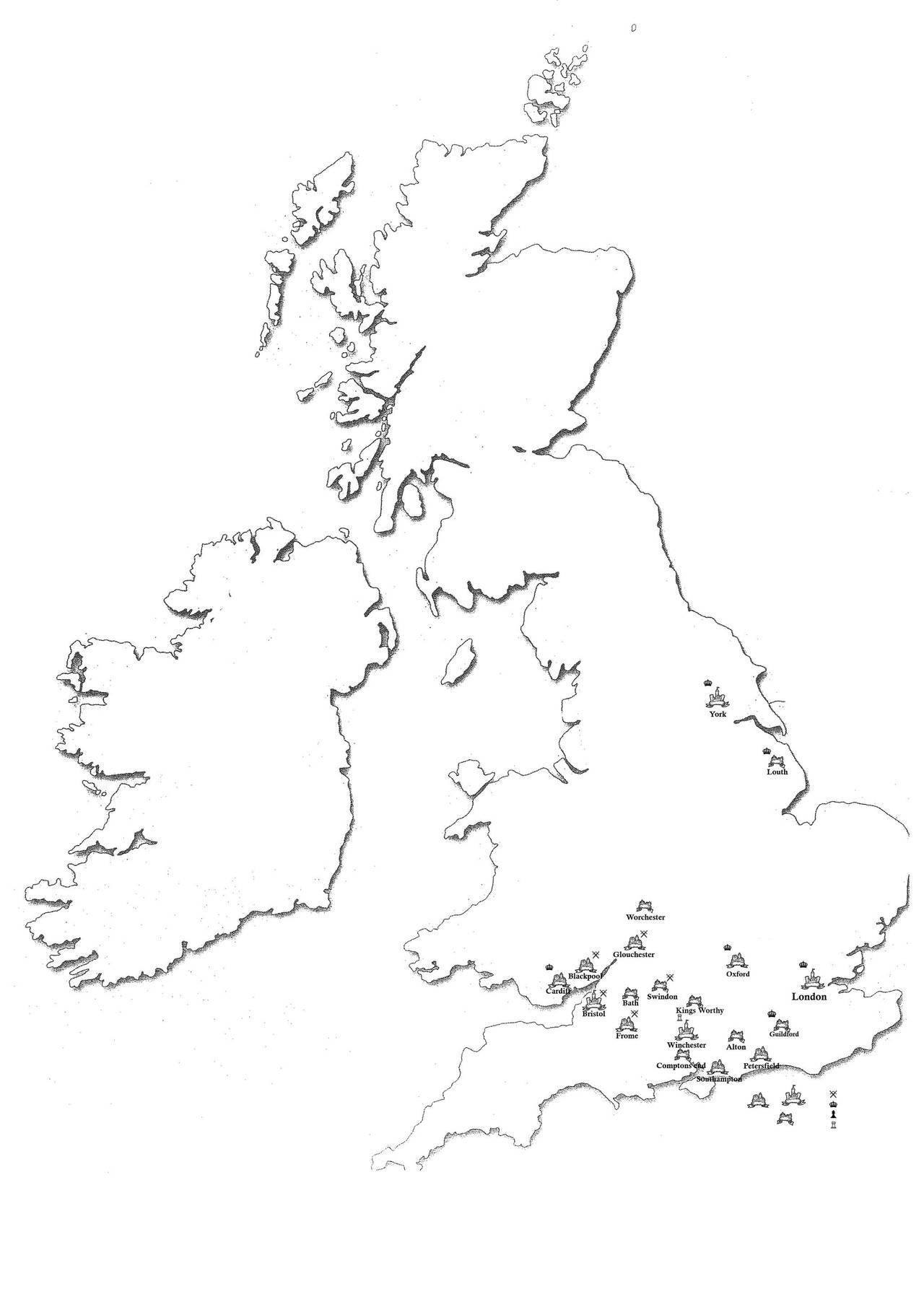 Blank Outline Map Of British Isles | www.tollebild.com