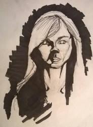 female inking practice by 1masterchef