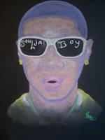 Soulja Boy chalk by smeajul
