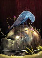'Bikja' Blue Rock Thrush by KxG-WitcheR