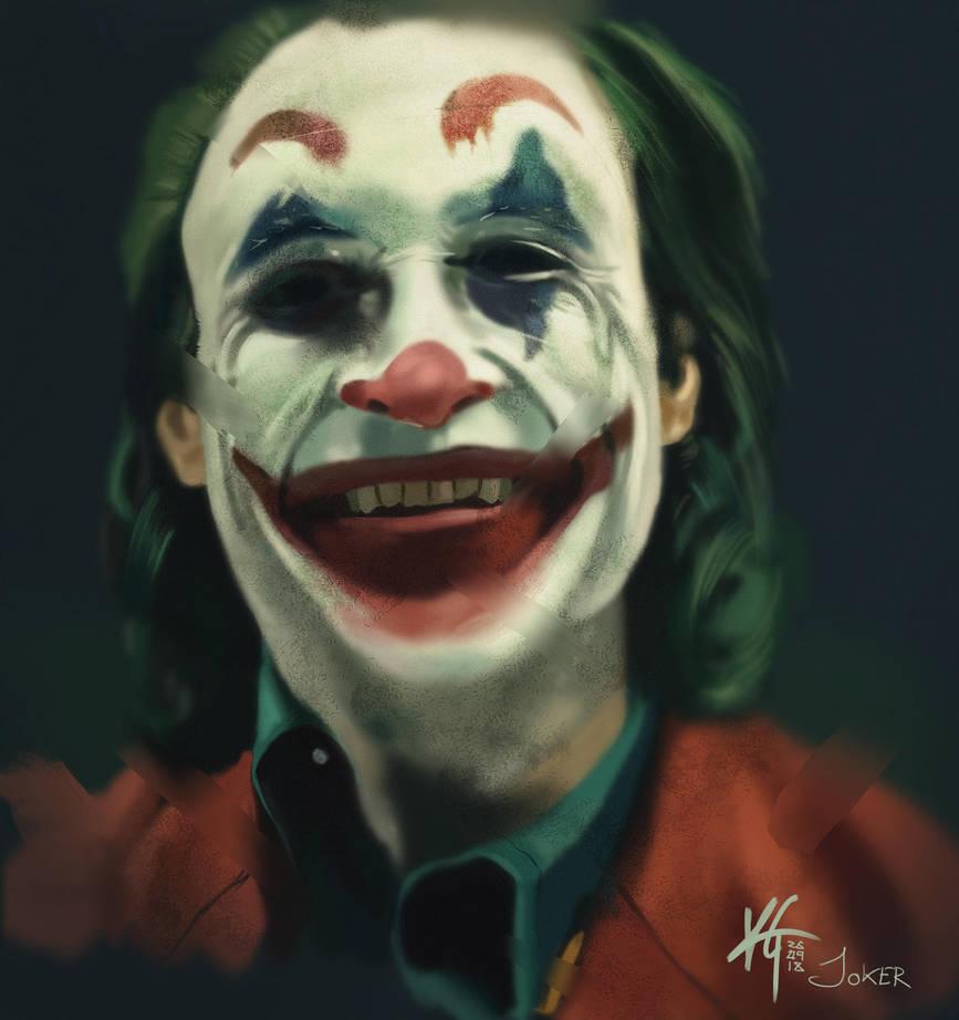 Joaquin Phoenix - Joker Study by KxG-WitcheR
