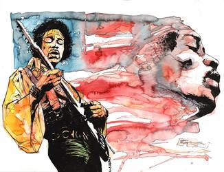 Jimi Hendrix by thisismyboomstick