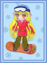 Snowboarding Chi by angelwings0509