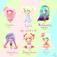 - Sweets Adoptables - CLOSED by hyacinthess