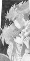 Soft Shading Hiei and Kurama by aikou-yami