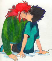 Hiei and Kurama -yaoi- by aikou-yami