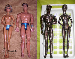 DIY Bronze Statues Dolls - Barbie and Max Steel by Dianah3