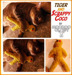 Tiger and Scrappy Coco by moodooology