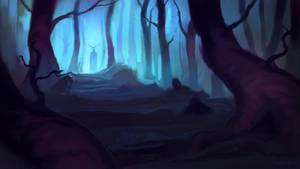 Haunted Forest - speedpaint by BaukjeSpirit