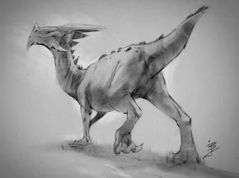 Dino Sketch by BaukjeSpirit
