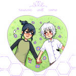NO.6 Heart Button + Acrylic Charm by cambrasine