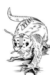 Art Jam - Day 5 - Insect Reptile Mammal Hybrid by KingPuddinArt