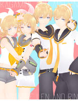 DL: Tda Kagamine Rin and Len [5300 WATCHER'S GIFT] by Jjinomu