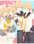 DL: Tda Kagamine Rin and Len [5300 WATCHER'S GIFT] by Jjinomu