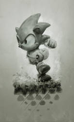 Sonic by yoshiyaki