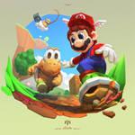 Mario 64 Fanart by yoshiyaki