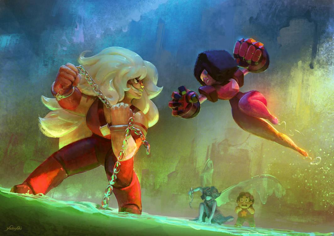 Steven Universe Fanart (Jasper; vs Garnet)