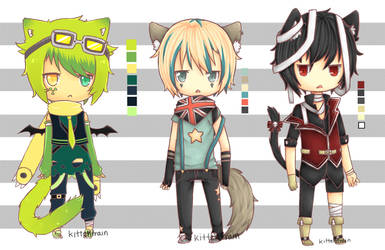 Adoptables .:Closed:. by kittehtrain