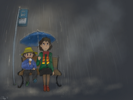All The Cool Kids Eat Ice Cream In The Rain by Flashkirby-99
