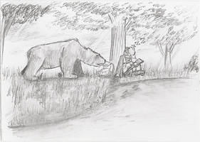 Hunterandbear by Flashkirby-99