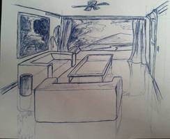 Room Pen Sketch by Flashkirby-99