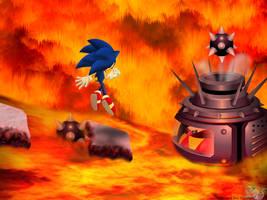 Volcano's Core Battle by Hazard-the-Porgoyle