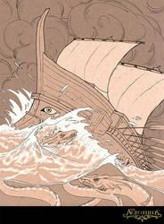 Sea Serpent Storm by MichellePapadopoulos
