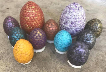 Dragon Egg Clutch 1 by Eades-Beads