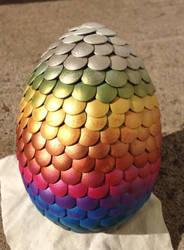 Rainbow Dragon Egg by Eades-Beads