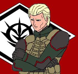 Char Aznable 0095 UC (Zeonic Victory) by KingsofWinter
