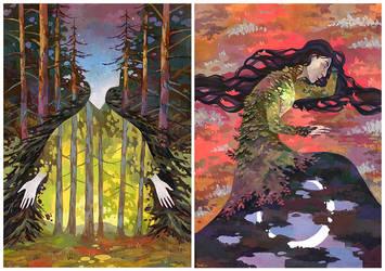 Gouashe illustrations by JuliaTar