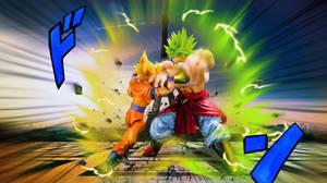 Dragon Ball S H Figuarts Goku Vs Broly by mjd360