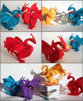 Plush Merlin Dragons by ldhenson