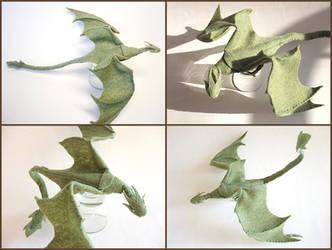 Plush Poseable Dragon by ldhenson