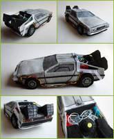 Plush time-traveling DeLorean by ldhenson